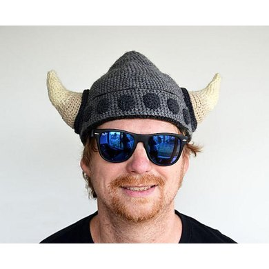 Viking Helmet - Crochet Viking Hat - Horned Helmet - Horned Viking ...