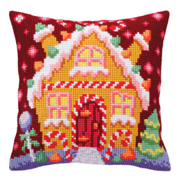Collection D'Art Gingerbread Lodge Cushion Cross Stitch Kit