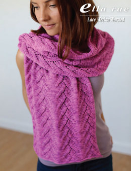 Wrap in Ella Rae Lace Merino Worsted - ER9-01 - Downloadable PDF