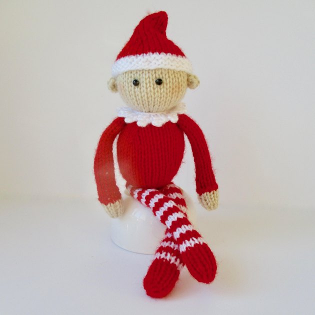 Knitting Pattern For Elf On The Shelf : Jingles the Elf Knitting pattern by Amanda Berry