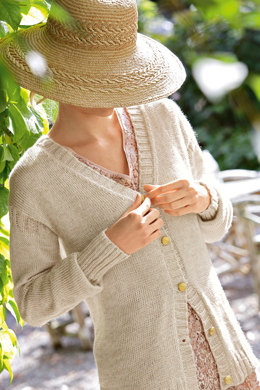 V Neck Cardigan in Bergere de France Cabourg - 11 - Downloadable PDF