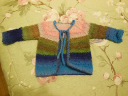 Tulips, A Colorful Cardigan for Baby in Dream in Color Classy