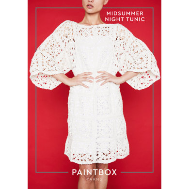 """Midsummer Night Tunic"" - Free Dress Crochet Pattern For Women in Paintbox Yarns Cotton DK - COT-CRO-WOM-004"