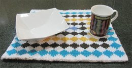 KGeometry Placemat: Rectangle with 99 Rhombuses