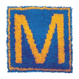 Wonderart Monogram Blue Latch Hook Kit