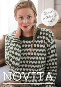 Women's Colorwork Sweater in Novita Nordic Wool - Downloadable PDF