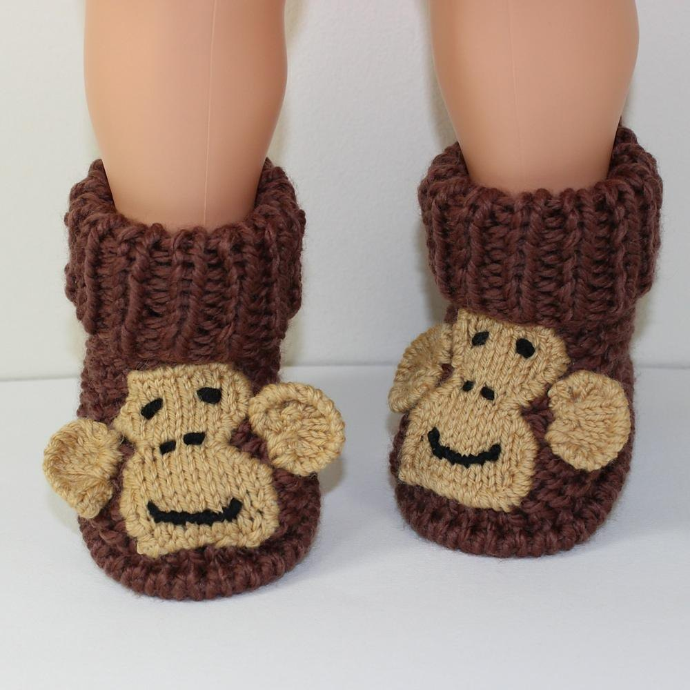 Toddler Monkey Boots Knitting pattern by madmonkeyknits Knitting Patterns ...