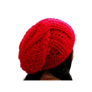 Slouchy beanie hat ribbed
