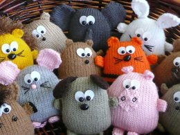 Peter's Pals - hedgehog dog lion tiger horse pig elephant hamster rabbit mouse bear beaver