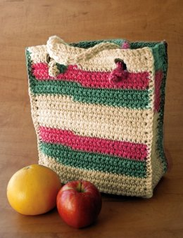 Bag to Crochet in Lily Sugar 'n Cream Stripes