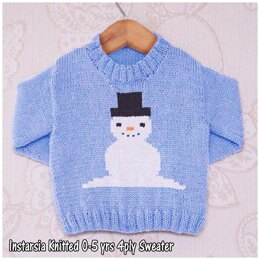 Intarsia - Jingles the Snowman - Chart Only