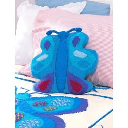 Butterfly Pillow in Patons Canadiana