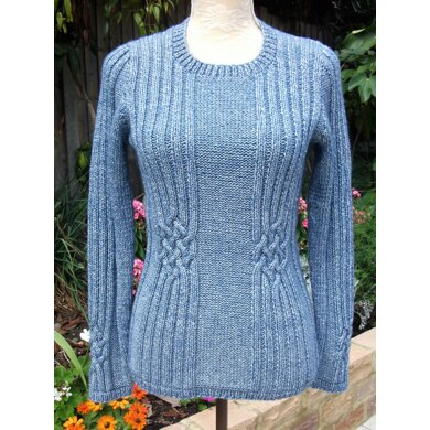 Sweater with Celtic Knot Cabling