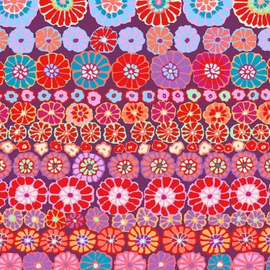 Kaffe Fassett Row Flowers Cut to Length - Red