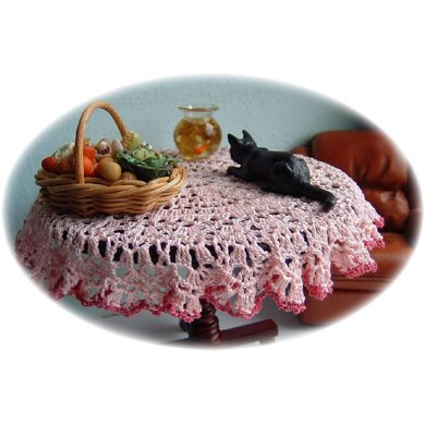 1:12th scale Round Tablecloth