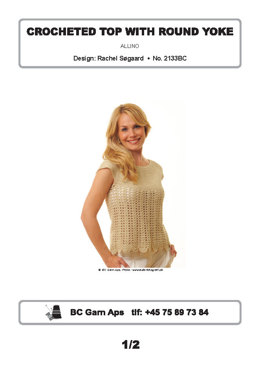 Crocheted Top with Round Yoke in BC Garn Allino - 2133BC - Downloadable PDF