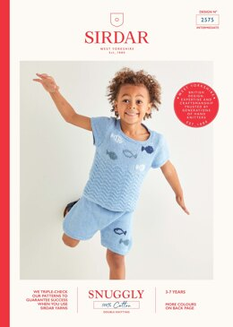 Top & Shorts in Sirdar Snuggly 100% Cotton - 2575 - Leaflet