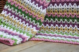 Yarn Stash Series - V Stitch Blanket