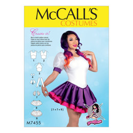 McCall's Misses' Skirted Leotards with Mix-and-Match Design Variations M7455 - Sewing Pattern