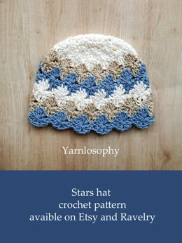 Stars crochet boy hat