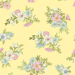 Craft Cotton Company Playful Kittens - Floral