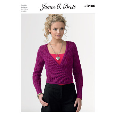 Ladies' Sweater in James C. Brett Twinkle DK - JB106
