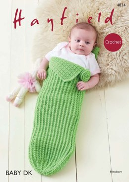 Baby Girl Pod Playsuit in Hayfield Baby DK - 4834 - Downloadable PDF
