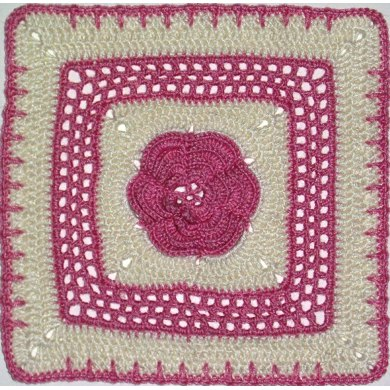 """Roses and Lace - 8"""" square"""