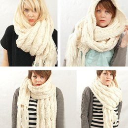 Giant Cable Scarf