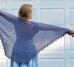 Crochet Diaphanous Shawl in Classic Elite Yarns Firefly