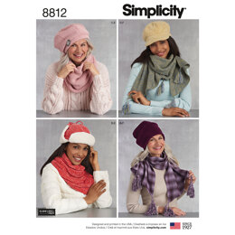 Simplicity 8812 Misses Cold Weather Accessories - Paper Pattern, Size A (ALL SIZES)