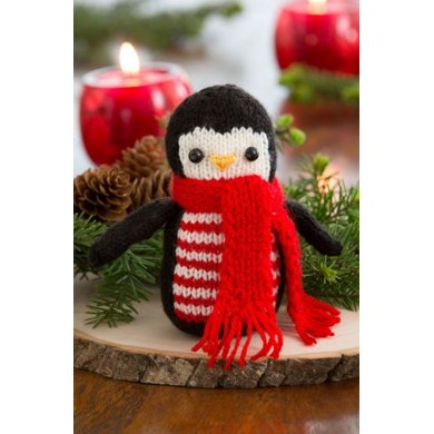 Cheerful Holiday Penguin in Red Heart Anne Geddes Baby - LW4621