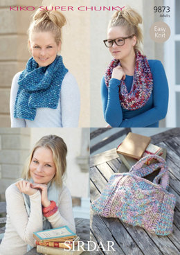 Scarves, Cowls, Bag and accessories in Sirdar Kiko Super Chunky - 9873