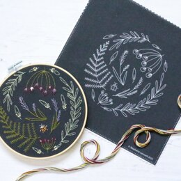 Hawthorn Handmade Black Wildwood Embroidery Kit