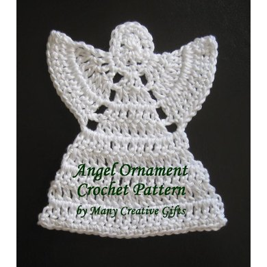 Knitting Pattern Angel Ornament : Angel Ornament Crochet pattern by Many Creative Gifts ...
