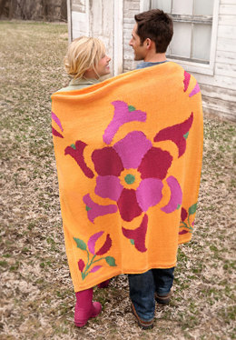 Flower Power Throw in Spud & Chloe Sweater - 9512 (Downloadable PDF)