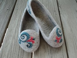 Summer Slippers Felted Knit for Women