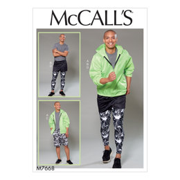 McCall's Men's Hooded Jacket, Shorts and Leggings M7668 - Sewing Pattern