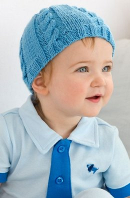 Cabled Baby Hat in Red Heart Baby - LW3823EN