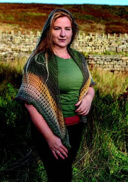 Crocheted Shawl in King Cole Curiosity DK - E1001 - Downloadable PDF