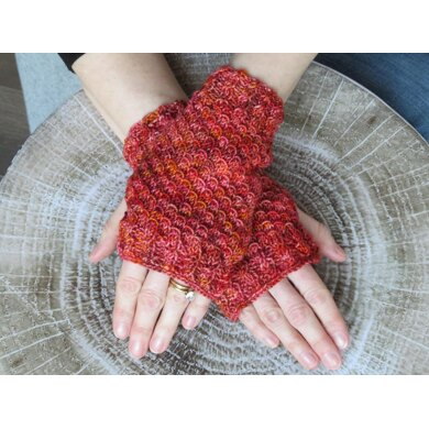 Mermaid Scales Fingerless Gloves