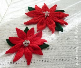 Poinsettia Flower Knit Christmas