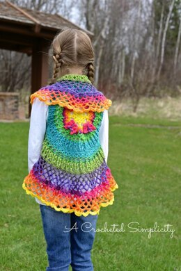Girls Butterfly Mandala Vest