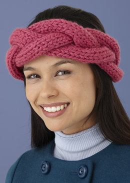 Beginner's Braided Headband in Lion Brand Wool-Ease Thick & Quick - L10660