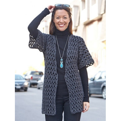 Perfect Office Crochet Jacket In Caron Simply Soft Downloadable Pdf