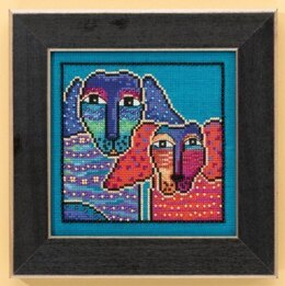 Mill Hill Ol' Blue & Red - Dogs Collection Beaded Cross Stitch Kit - Multi