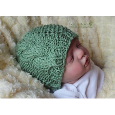 Textured Cables Hat Knitting Pattern 369