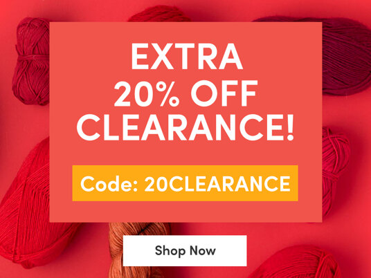 Extra 20 percent off clearance! Code: 20CLEARANCE
