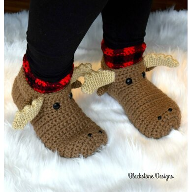 Moose Slippers - Adult