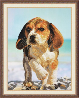 Oven Beagle Dog Cross Stitch Kit - 28cm x 37cm
